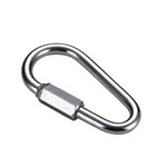 Pear Link, Nickel Plated, Large