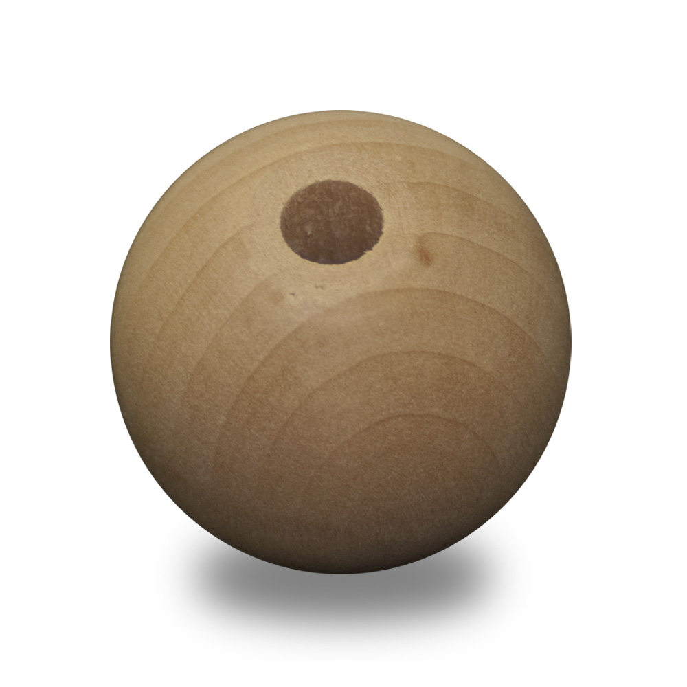 1-inch Wood Bead - Small Hole