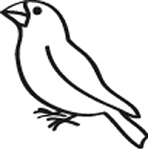 Window Decal - Finch