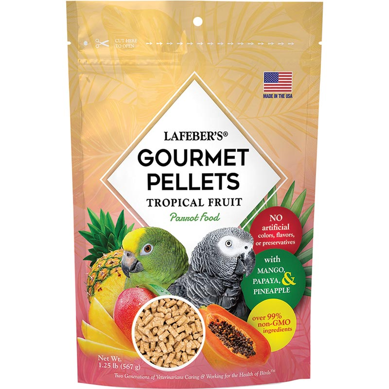 Lafeber Tropical Fruit Gourmet Pellets, Parrot, 1.25lb