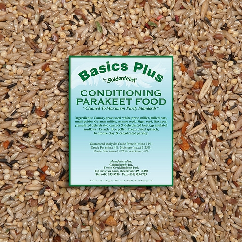 Goldenfeast Basics Plus Conditioning Parakeet Food 72oz