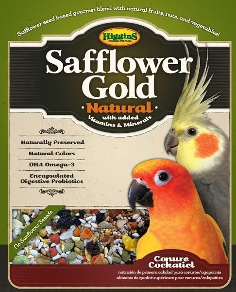 Higgins Safflower Gold, Conure/Cockatiel, 3lb