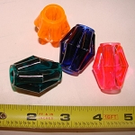 Plastic Cylinder Bead (each)