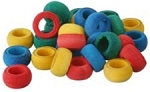 Fun Max Wood Rings, bag of 28