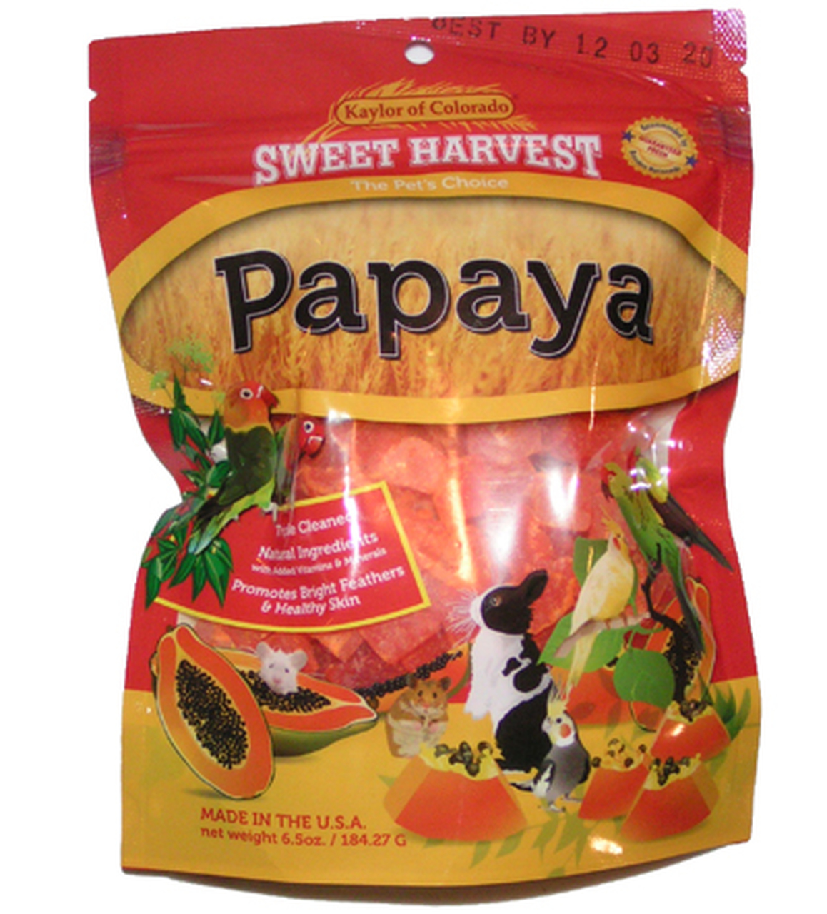 Kaylor Dried Papaya, 6.5oz