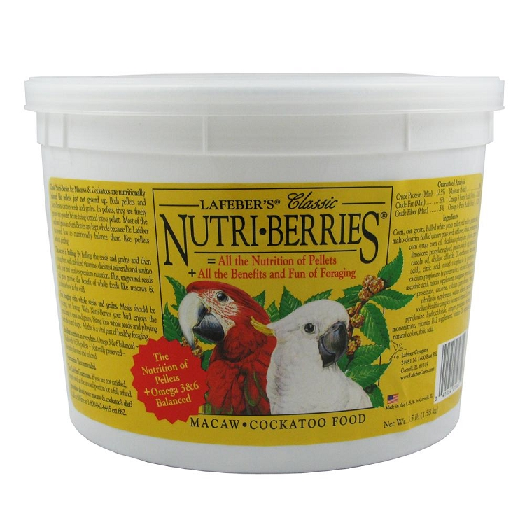 Nutri-Berries, Macaw/Cockatoo Size, 3.5lb