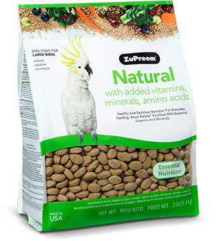 Zupreem Large Parrot Food, Natural,  3lb