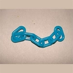 1-inch Plastic Chain, Turquois (per foot)