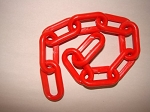 2-inch Plastic Chain, Red (per foot)