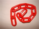 1-1/2-inch Plastic Chain, Red (per foot)