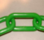 3-inch Plastic Chain, Green