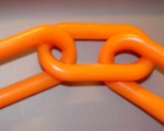 3-inch Plastic Chain, Orange