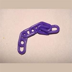 1-inch Plastic Chain, Purple (per foot)