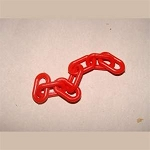 3/4-inch Plastic Chain, Red (per foot)