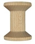 Natural Wooden Spool, small