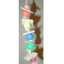 Birdsafe Thin Wafer Stack Toy - Plastic Beads
