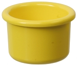 Plastic Bird Crock, Yellow 8oz