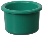 Plastic Bird Crock, Forest Green 8oz