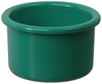 Plastic Bird Crock, Forest Green, 16oz