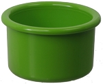 Plastic Bird Crock, Green, 16oz