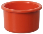 Plastic Bird Crock, Orange, 16oz
