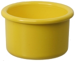 Plastic Bird Crock, Yellow, 16oz