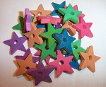 Colored Wood Stars, 1