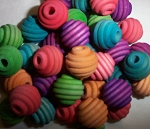 Color Beehive Beads 5/8