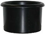 Plastic BIrd Crock, Black, 28oz
