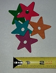 Colored Wood Stars, 1-1/2