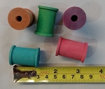 Color Wooden Spools, 1-3/16