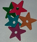 Colored Wood Stars, 2