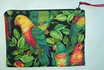 Handmade Zipper Cosmetic Pouch, Tropical Lories