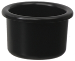 Plastic BIrd Crock, Black 8oz