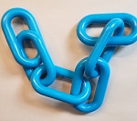3-inch Plastic Chain, Turquois