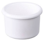 Plastic Bird Crock, White, 8oz