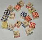 Alphabet Block - Tiny (pack of 18)