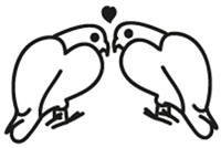 Window Decal - Lovebirds