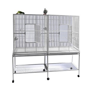 "64""x21"" Double Flight Cage with Divider"