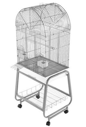 "A&E  22""x17"" Dome Top Cage w/Removable Stand"