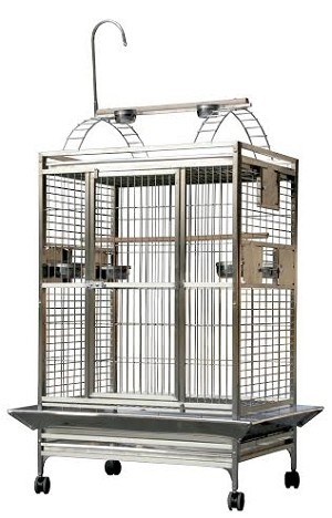 "A&E 36"" x 28""  Play Top cage, Stainless Steel"