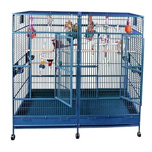 "80""x40"" Double Macaw Cage with Divider"