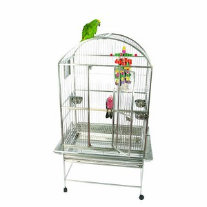 "A&E 32""x23"" Dome Top cage, Stainless Steel"