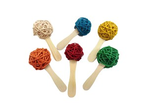 A&E Cage Co Popsicle Stick Wood Toys 6-Pack
