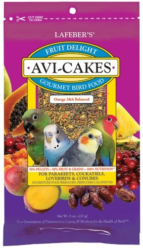 Avi-Cakes - Fruit Delight for Small Birds - 8oz.