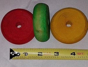 Large Color Wooden Wheel (each)