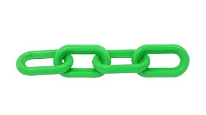 1-1/2-inch Plastic Chain, Green (per foot)