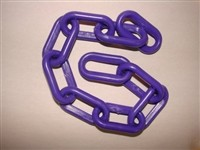 1-1/2-inch Plastic Chain, Purple (per foot)