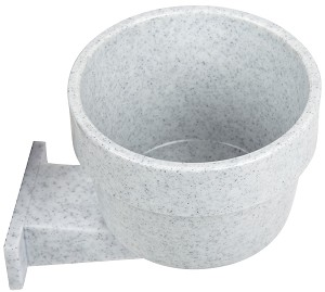 Lixit Quick-Lock Crock, 10oz, Granite