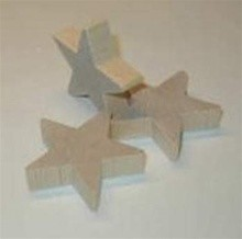 "Wood Star, 2"" thick  (each)"